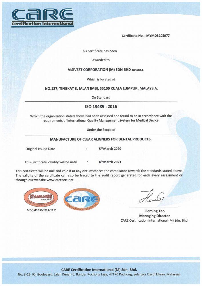 ISO13485-Whitesmile Clear